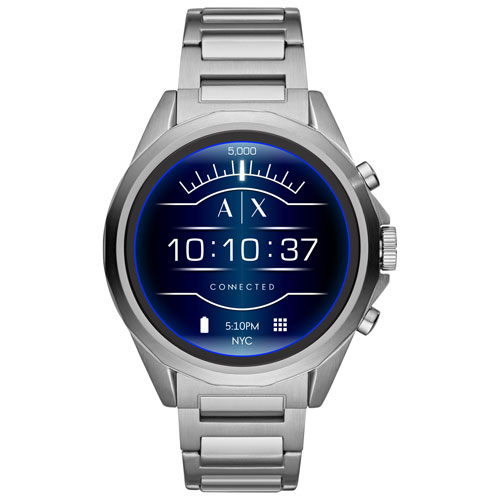 89f048f2a28 Armani Exchange Connected Drexler 48mm Smartwatch with Heart Rate Monitor -  Silver   Smartwatches - Best Buy Canada