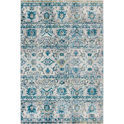 """Tapis Saville Crown Blue / Turquoise 2'2""""x3'11"""""""