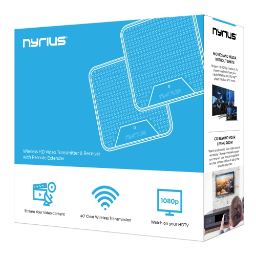 PC to TV//Projector Nyrius WS55 Wireless HDMI Video Transmitter /& Receiver for Streaming HD 1080p Video /& Digital Audio from A//V Receiver Blu-ray Cable//Satellite Box