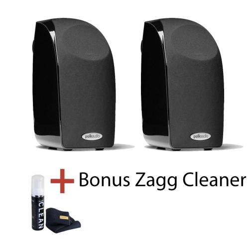 Polk Audio TL1 Satellite Speaker Black 1 Pair With Bonus Zagg Cleaner Bookshelf Speakers