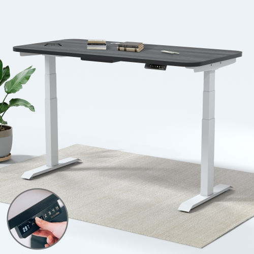 MotionGrey Adjustable Dual Motors Electric Office Standing Desk ...