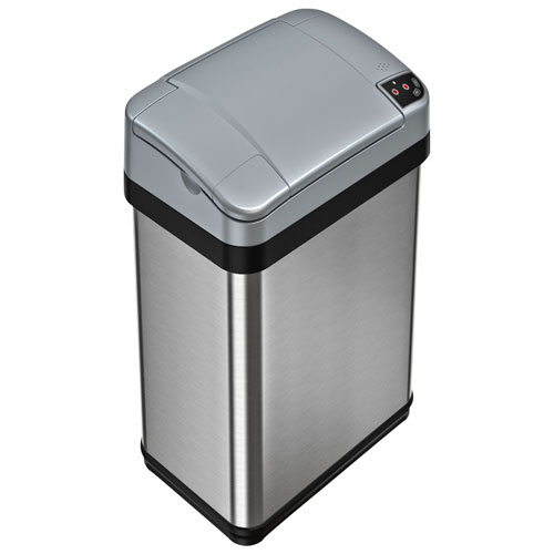 Itouchless 15l Sesnor Trash Can Stainless Steel Bathroom