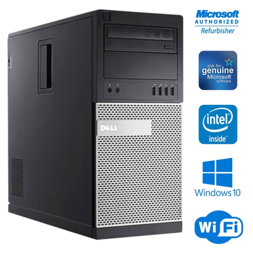 DELL OptiPlex 9020 Mini Tour Ordinateur de Bureau Core i5 4570 16GB 256GB SSD Windows 10 Pro WiFi -Remis à neuf