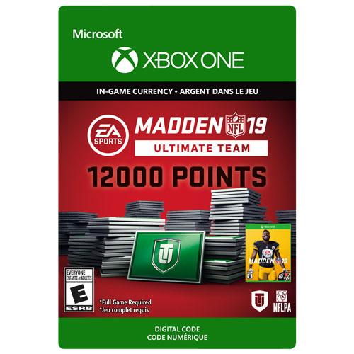12000 points Madden Ultimate Team pour Madden NFL 19 - Téléchargement numérique