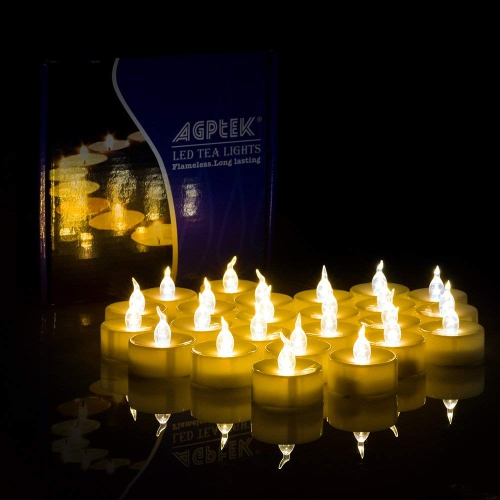 Agptek 24 Flameless Tealights Battery Included Operated