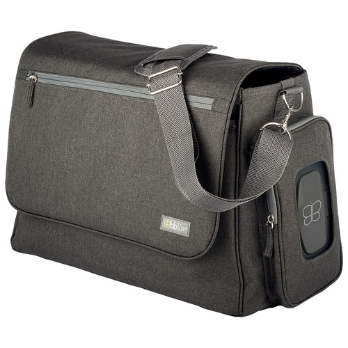 Sac à couches messager Ultra de BBLUV - Anthracite