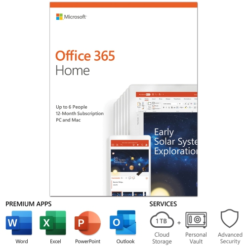 Microsoft Office 365 Home (PC/Mac) - 6 User - 1 Year - English