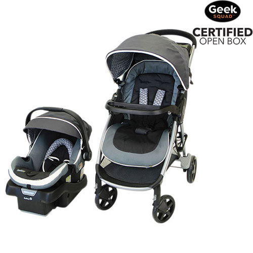 Final Clearance Safety 1st Step And Go 2 Standard Stroller With OnBoard 35 Infant Car Seat