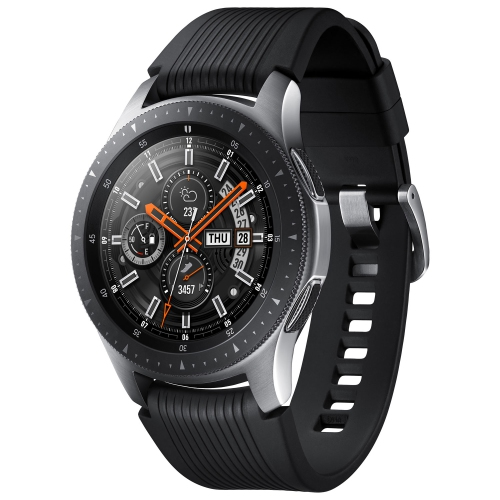 Samsung Galaxy Watch 46mm Smartwatch with Heart Rate Monitor - Silver Black    Smartwatches - Best Buy Canada 741fb8d587e