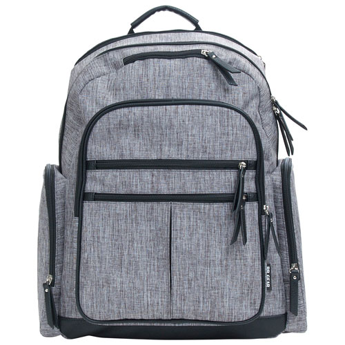 Baby Boom Places and Spaces Backpack Diaper Bag - Grey