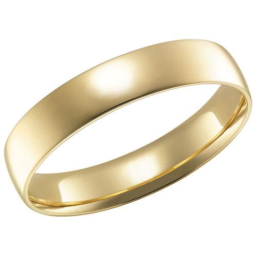 Alliance Comfort Fit de 4 mm en or jaune de 14 ct - Taille 5