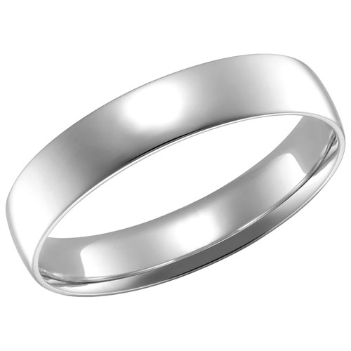 4mm Comfort Fit Wedding Band in 14KT White Gold - Size 7