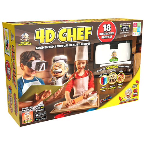 4D Lab Professor Maxwell's 4D Chef Augmented Reality Headset - White/Black