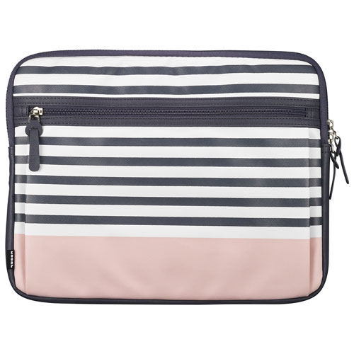 """Modal 14"""" Laptop Sleeve - Grey Stripe/Pink - Only at Best Buy"""