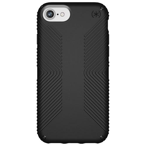 Étui rigide ajusté Presidio Grip de Speck pour iPhone SE (2e génération)/8/7 - Noir