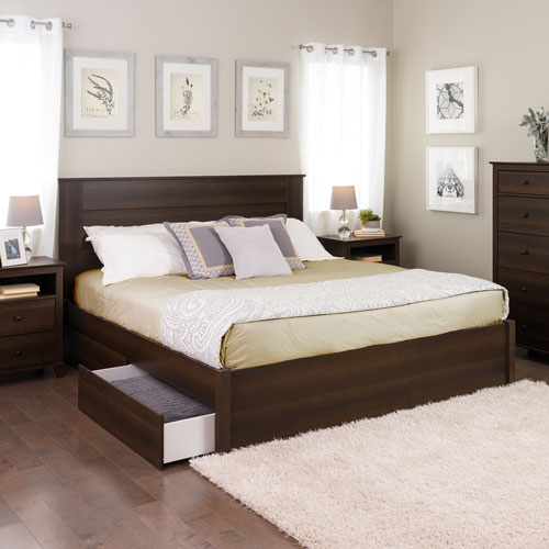 Select modern platform bed with 2 drawer storage king - Best platform beds with storage ...