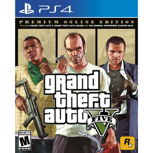 PS4 Grand Theft Auto V Premium Online Edition