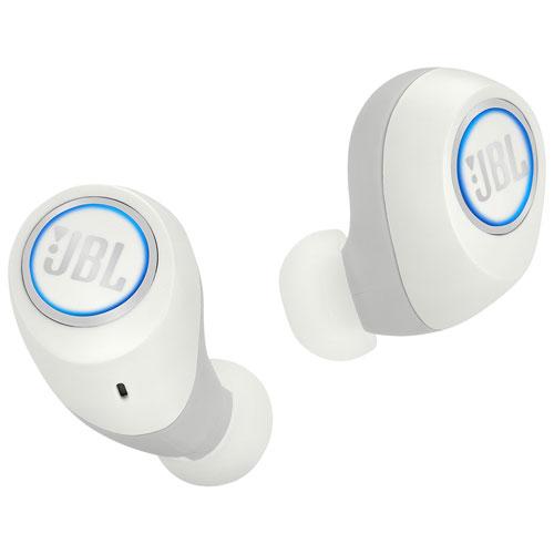Écouteurs bouton sans fil autonomes à isolation sonore Free de JBL - Blanc