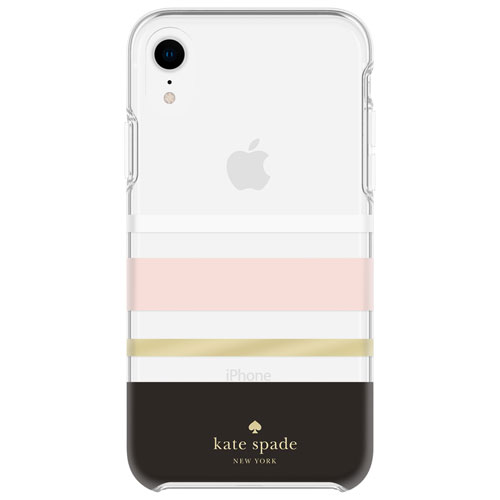 f4b08028af2f kate spade new york Charlotte Fitted Hard Shell Case for iPhone XR -  Black Gold Foil   iPhone XR Cases - Best Buy Canada
