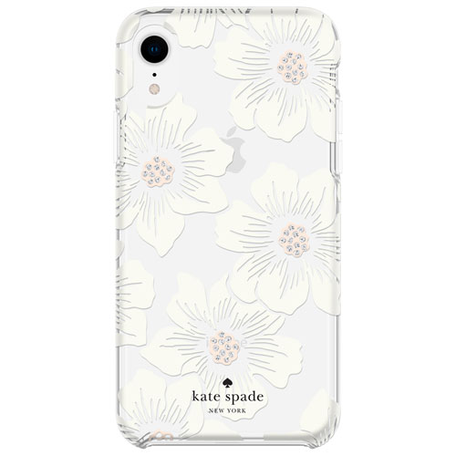 cheap for discount 81a79 51609 Kate Spade New York Hollyhock Fitted Hard Shell Case for iPhone XR -  Cream/Crystal Gem