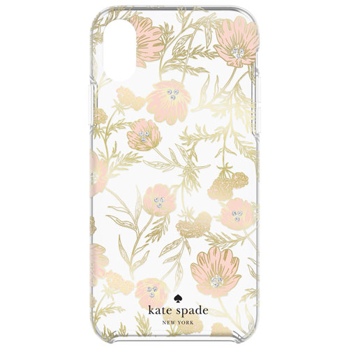quality design 4643d fafee kate spade new york Fitted Hard Shell Case for iPhone XS Max - Blossom  Pink/Gold