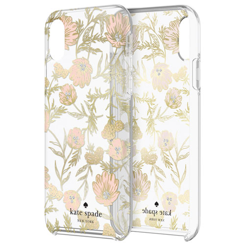 quality design cd20d 7442c kate spade new york Fitted Hard Shell Case for iPhone XS Max - Blossom  Pink/Gold