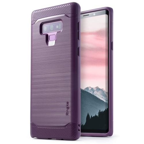 free shipping adea6 993b3 Samsung Galaxy Note 9 Case, Ringke ONYX Brushed Metal Design Flexible Shock  Absorbent Cover - Lilac Purple