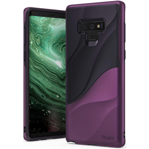 newest 9cfb8 7433d Samsung Galaxy Note 9 Case, Ringke WAVE Dual Layer Heavy Duty 3D Textured  PC TPU Full Body Drop Protection - Metallic Purple