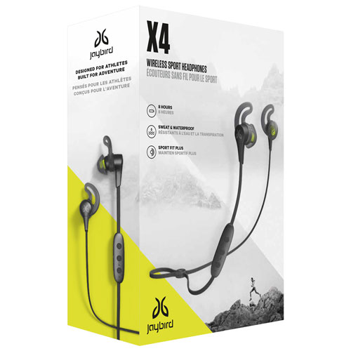 07b7edaca38 Jaybird X4 In-Ear Sound Isolating Bluetooth Sport Headphones - Black  Metallic / Jade   Best Buy Canada