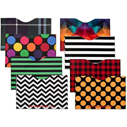 2018 sneakers volume large super cute Identity Theft Prevention RFID Blocking Sleeves, Set With Color Coding (Set  of 8 Credit Card Sleeves)