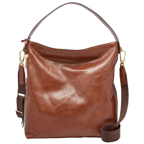 Fossil Maya Leather Hobo Bag - Brown   Hobo Bags - Best Buy Canada 9e3164a0c30d3