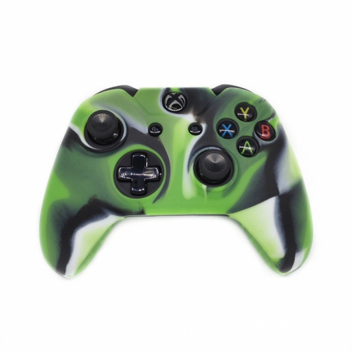 [REYTID] Xbox ONE Controller Skin Silicone Protective Rubber Cover Gel Grip  Case - Green/Black/White