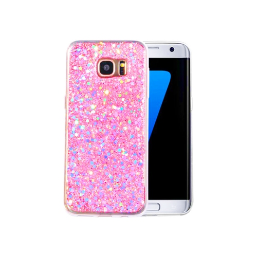 77393f7d3b81 Samsung Galaxy S7 Edge Glitter Scale Luxury Girly Cover Case - Sparkle Pink    Samsung Galaxy S7 Edge Cases - Best Buy Canada