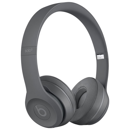 Beats by Dr. Dre Solo 3 On-Ear Sound Isolating Bluetooth Headphones -  Asphalt Grey   On-Ear Headphones - Best Buy Canada a561a5e83