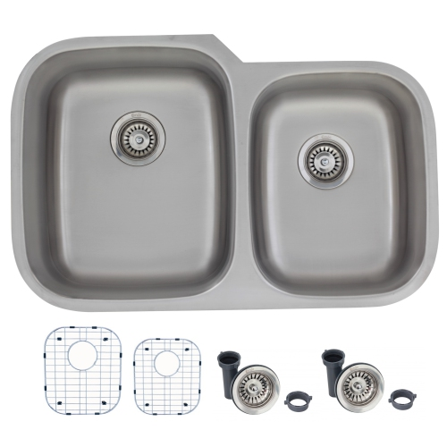 32 Inches Undermount Stainless Steel Kitchen Sink By Canda 6040 Bowl16 Gauge Stainless Steel S 201xg