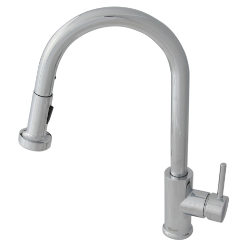 Stylish Kitchen Sink Faucet Pull Down With Pull Out Sprayer Single