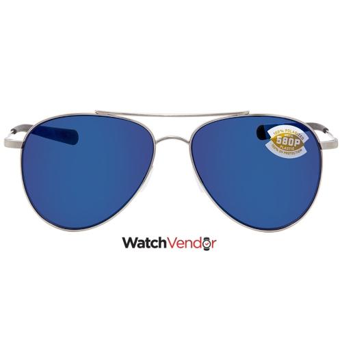 39302e16aad85 Costa Del Mar Cook Blue Mirror 580P Aviator Sunglasses COO 21 OBMP ...