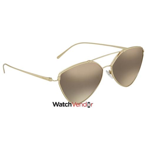 c0763c9f6c Prada Grey Mirror Silver Gradient Cat Eye Sunglasses PR 51US ZVN5O0 62    Sunglasses - Best Buy Canada
