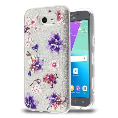 on sale 13fb7 af699 Insten Tuff Flowers Hard Case For Samsung Galaxy Amp Prime 2 Express Prime  2 J3 (2017) J3 Eclipse, Multi-Color