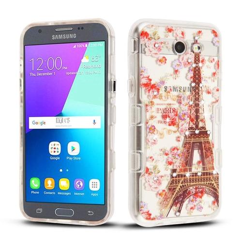 timeless design 9e358 248f5 Insten Tuff Panoview Paris Hard Cover Case For Samsung Galaxy J3 (2017) J3  Eclipse, Multi-Color