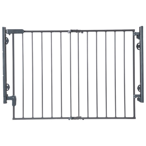 Safety First Hardware Mounted Freestanding Safety Gate Grey Baby