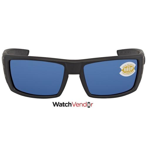 63e84c75666c1 Costa Del Mar Rafael Medium Fit Blue 580P Rectangular Sunglasses RFL ...