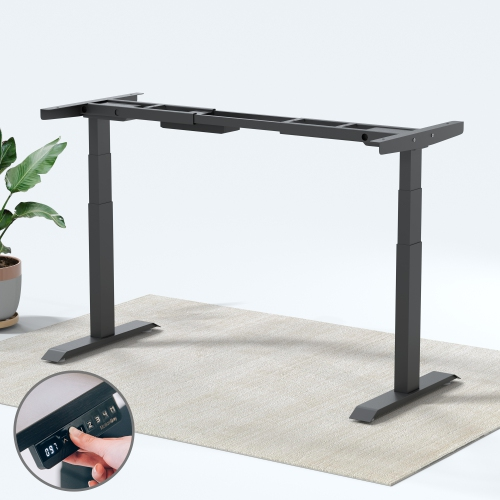 MotionGrey Adjustable Electric Dual Motors Office Standing Desk ...