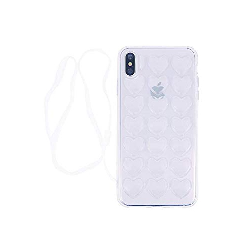iPhone 8 Plus Case iPhone 7 Plus Case DMaos Women Cover Cute Girl 3D Heart  Soft Rubber Absorb Shock with Crossbody Strap Cha - Online Only 78e34a265