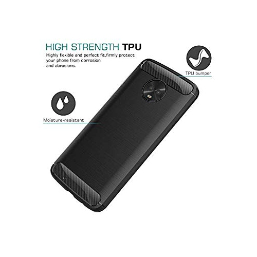premium selection 670fd 165c0 Moko Moto G6 Case Flexible TPU Bumper Slim Fit Case Carbon Fiber Design  Lightweight Shockproof Back Cover for Motorola Moto G