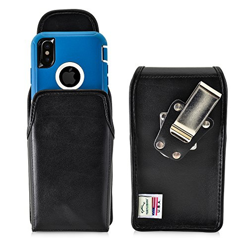 the best attitude 5fddf fff24 iPhone X Belt Case fits OTTERBOX Defender Case Turtleback iPhone X Black  Holster with Heavy Duty Rotating Belt Clip Vertical