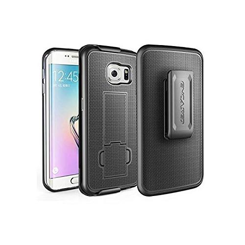 size 40 92514 c1b07 Samsung Galaxy S6 EDGE PLUS Slim Grip Case & Belt Clip Holster - Black (By  Encased)