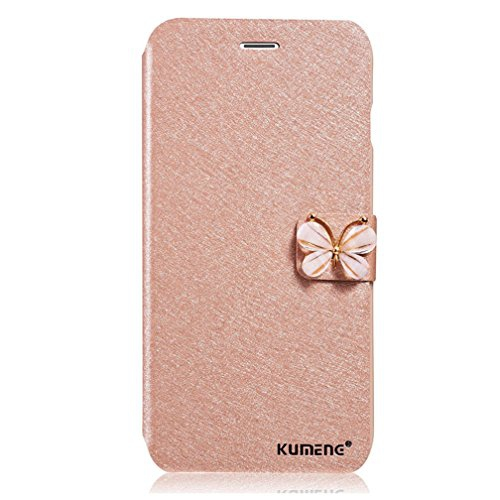 pretty nice 773c2 8fe8c UPSUN(KUMENG) For iPhone 5 5s SE Wallet Case Flip Cover Cell Phone Case 1  Piece - Champagne-pink(Jade Butterfly)