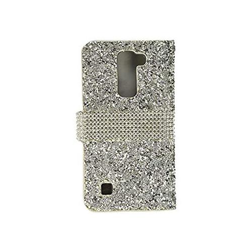 low priced 4bf46 5a0ba Asmyna Wallet Case for LG K7 LG K373 (Escape 3) LG L52VL (Treasure LTE) LG  Tribute 5 - Silver