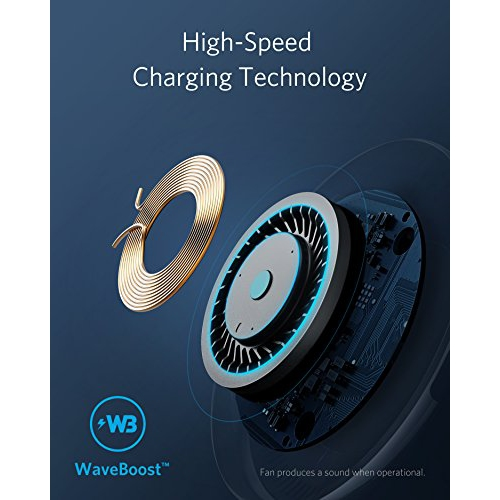 Anker PowerWave 7 5 Fast Wireless Charging Pad with Internal Cooling Fan  Qi-Certified 7 5W Compatible iPhone XS Max XR XS X